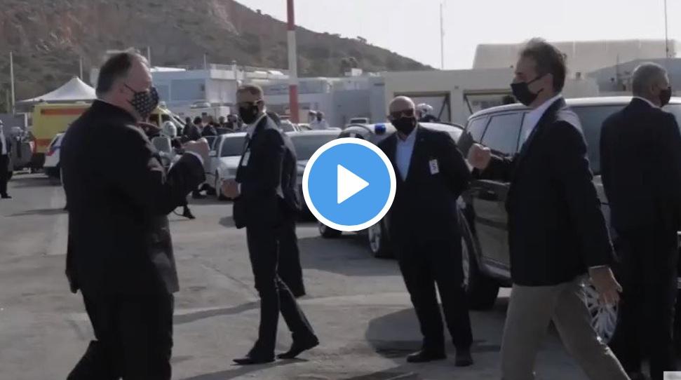 Επίσκεψη Πομπεο: Δακρυσε ο Τσακ Νορις με την εμφάνιση του Κυριακου δίπλα στον Αμερικανό υπουργό (Βίντεο)